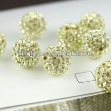 Newest styles crystal rhinestone beads!! Rhinestone crystal shamballa pave balls beads!! Citrine colors!! Paypal!! !!