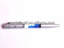 custom logo blue cubes inside metal light pen