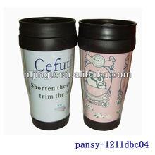 Logo Customized 300ML plastic double-wall travel mugs