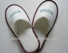 2012 low price close toe EVA velvet hotel slippers