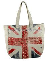 Eco friendly UK flag cotton canvas shopping bag