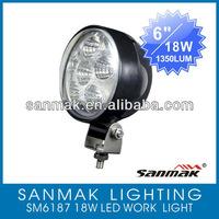 """6""""18w led work light 240W 4x4 12V 24V high intensity square off road/ATV SM6187"""