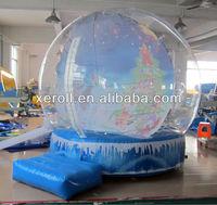 Top quality christmas inflatable snow globe