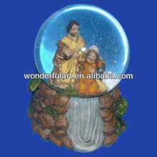 wholesale christmas religious nativity snow globe