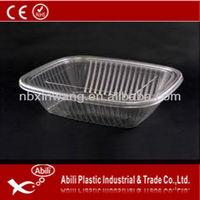 transparent disposable plastic food container