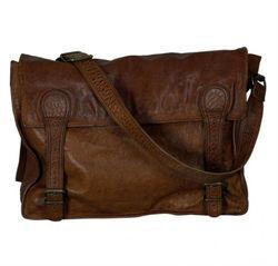 Real leather messenger bag