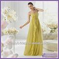 spc007 2013 новое прибытие элегантный формальная сторона платье желтый цветок вечернее платье