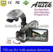 Free ship hd dvr 4X Digital Zoom 1080p hidden cameras for cars