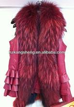 2002 ladies lamb nappa vest trim with genuine fur collar,usd298.00/pc,minimal order quantity 1pc only.
