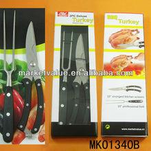 2pcs bbq turkey stainless steel kitchen tool set
