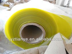 Yellow colour PVC plastic roll film/sheet
