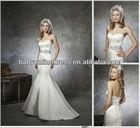 Cheap Simple satin sexy Mermaid wedding dress bridal dresses 2013 New Design Big Offer