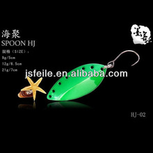 With Six Hole green New Style Zinc Spoon&Spinner metal fishing jigs