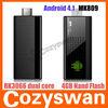 MK809 Dual Core Cortex-A9 1.6G Android4.1 Dongle, TV Box, HD IPTV Player Mini PC