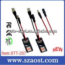 UTP Video Balun with Power Audio CAT5 For CCTV Camera Model STT-207