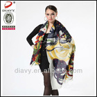 100%Mercerized wool printing scarf for 2013 custom wool pashmina scarf