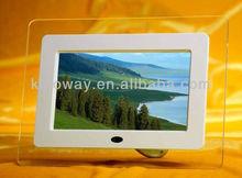 7inch right angle digital photo frame elegant acrylic raw material