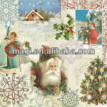 Abstract Vintage Canvas Christmas Painting for Wall Decor