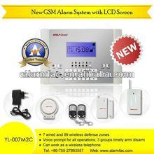 Hot sale latest GSM Alarm System gsm security wireless smart security alarm system YL-007M2C gsm mms alarm