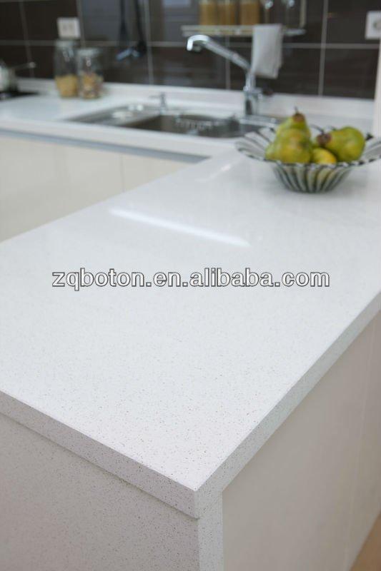 Bianco puro lastra di quarzo contatore top/top cucina/vanità top/piastrelle di ceramica ...