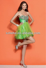 C003 Sexy sweetheart backless grass green color adult lady girls party dress