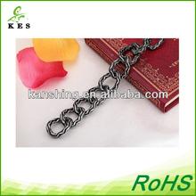 high quality chain for handbag,chain for handbag accessories,black beads gold chain