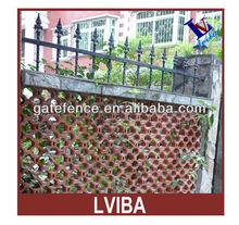 Aluminum Picket Spear Steel Wall Fence, Wrought Iron Like Spear barrier wall Fences PVC Like