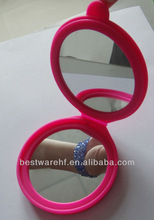 Fashion looking glass,,silicone mirror. silicone makeup Mirror