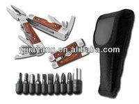 wooden handle multi tool kit G69