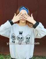 Newest fashion design korean style women wear printing long sleeves cute brand girls t shirt