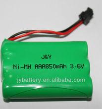 NiMH AAA 3.6V 850mah batteries for wireless phone