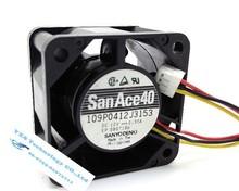 Sanyo 40*40*28mm 4cm Big air fan 12V 0.35A 109P0412J3153 Two Ball