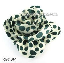 Popular dot handmade fabric big flower ornaments