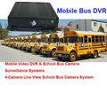 Autobús móvil/vehiclevideo& dvr cámara de autobuses escolares los sistemas de vigilancia