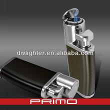 Metal cigar lighter with knife