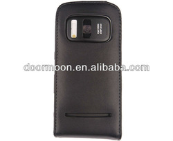 New! Luxury genuine calf leather cell phone case for Nokia PureView 808