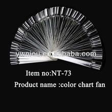 Fan-Shaped Nail Polish Color Display Chart