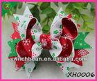 Christmas Snow Ribbon Ribbon Bows Hair Flower For Kids' hair Accessories xh0006