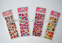 2013 high quality 3d puffy sticker for scrapbooking