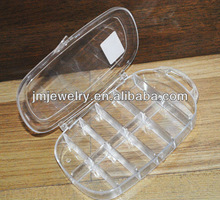 clear 11 compartment box for packing beads