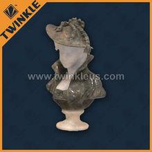 Decorative western famous bust sculpture