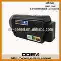 Vente en gros hd1080p 5 mp cmos lentille hd-501 ce/rohscertificat 32«go» meilleure caméra vidéo caméra vidéo numérique