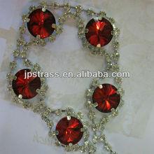 wholesale wedding dress accessories rhinestone trim from china