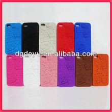 Rose design silicone for iphone cases
