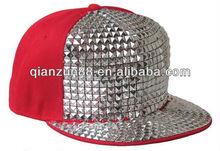Red sequin hip-hop sanpback cap