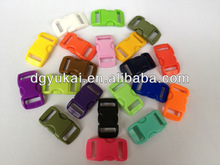 "Colored 3/8"" Plastic Curved Side Release Buckle"