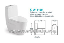 new models WC/High temperature toilet/smooth glaze toilet/GUESS/K-A11190