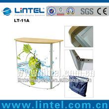 portable folding trade show table top display