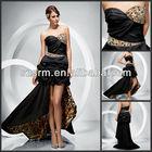 Noble sweetheart wild Leopard and black taffeta prom dress
