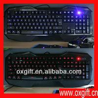 OXGIFT AULA BEFIRE USB Backlit LED Illuminated Ergonomic Gaming Multimedia Keyboard